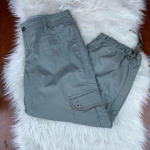 Tommy Hilfiger Gray Cargo Capri Pants